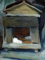 Lia Aminov dog house Butuceni oil painting.JPG