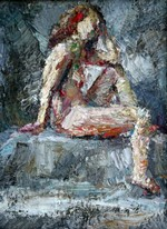 Lia Aminov female nude small study oil painting 2.JPG