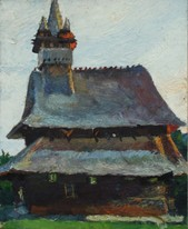 Lia Aminov old church oil painting.JPG