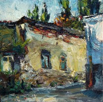 Lia Aminov old house in Chisinau oil painting.JPG