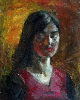 Lia Aminov portrait of Lina 2004 oil painting.JPG