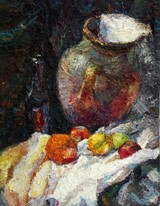 Lia Aminov still life oil painting 2004.JPG